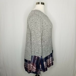 Style & Co Tops - Style & Co Gray Blue Red Plaid Layered-Look Top